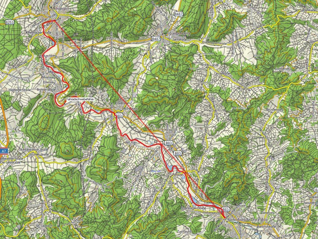 Fulda Track Rotenburg Melsungen