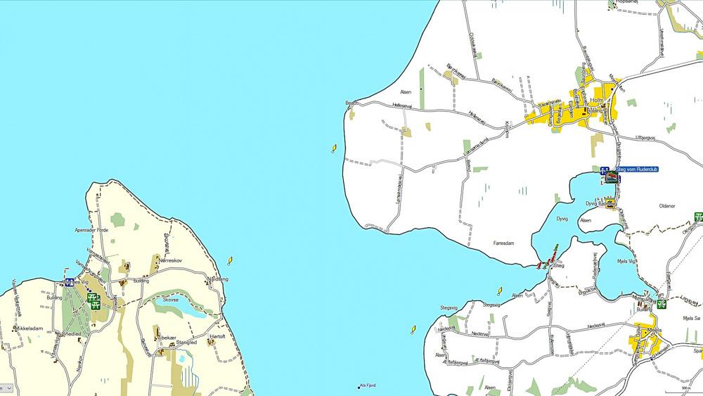Karte Dyvig