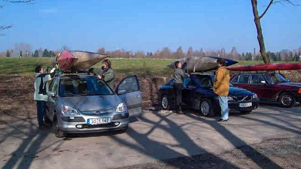 Autos versetzen an der Lahn